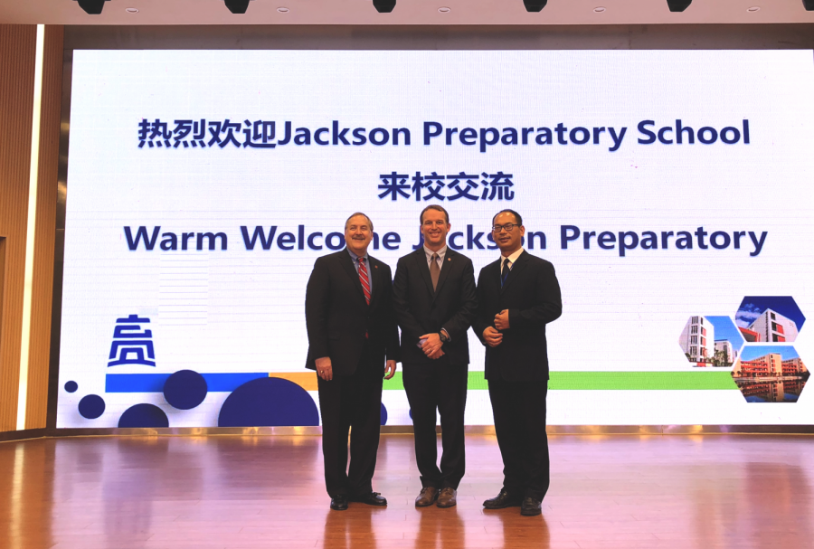 Prep officials welcomed to Taizhou, China.
