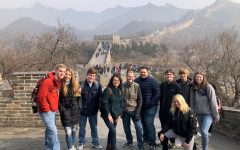 Students and chaperones walk the Great Wall of China.  Photo courtesy of Hannah Arnold.
