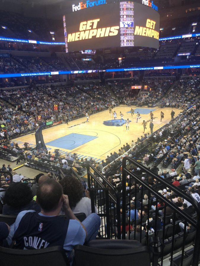 The view of the Grizzlies game.