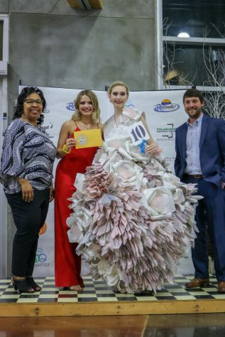Student artist wins again with unique dress