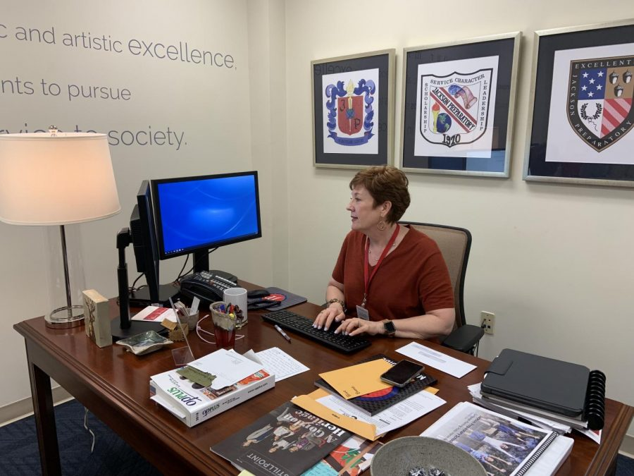 Ms. Crisler Boone at work as Prep's Head of External Affairs.