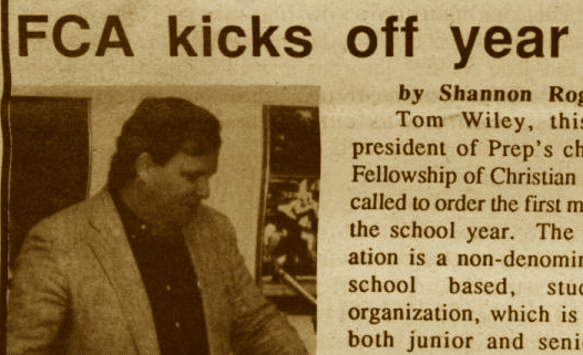"FROM THE ARCHIVES (Vol. XXIII, No. 1 – Oct. 1992): ""FCA kicks off year with breakfast"""