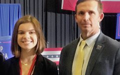Lauren Anne Smith poses for a photo with Agent Shawn Wolfe.