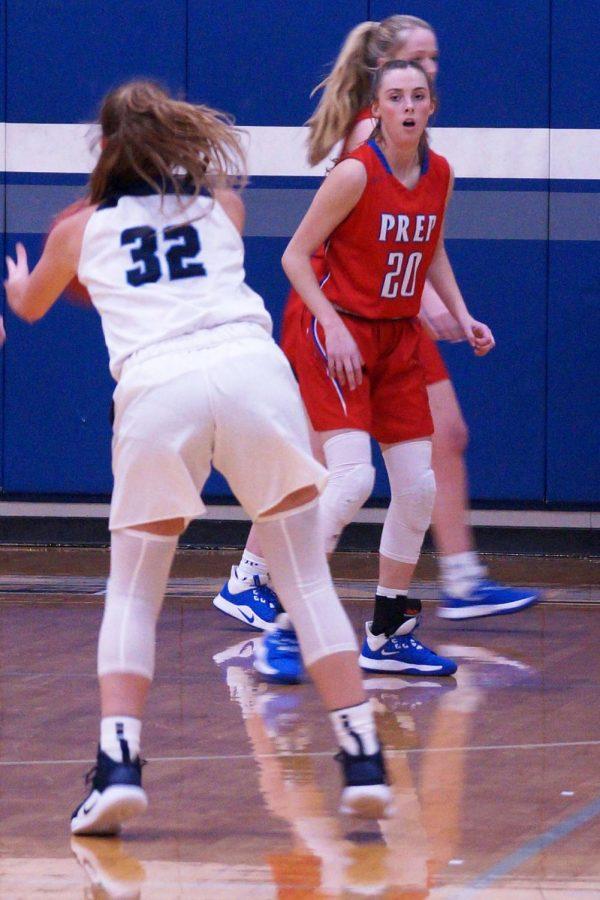 Campbell Perkins plays defense.