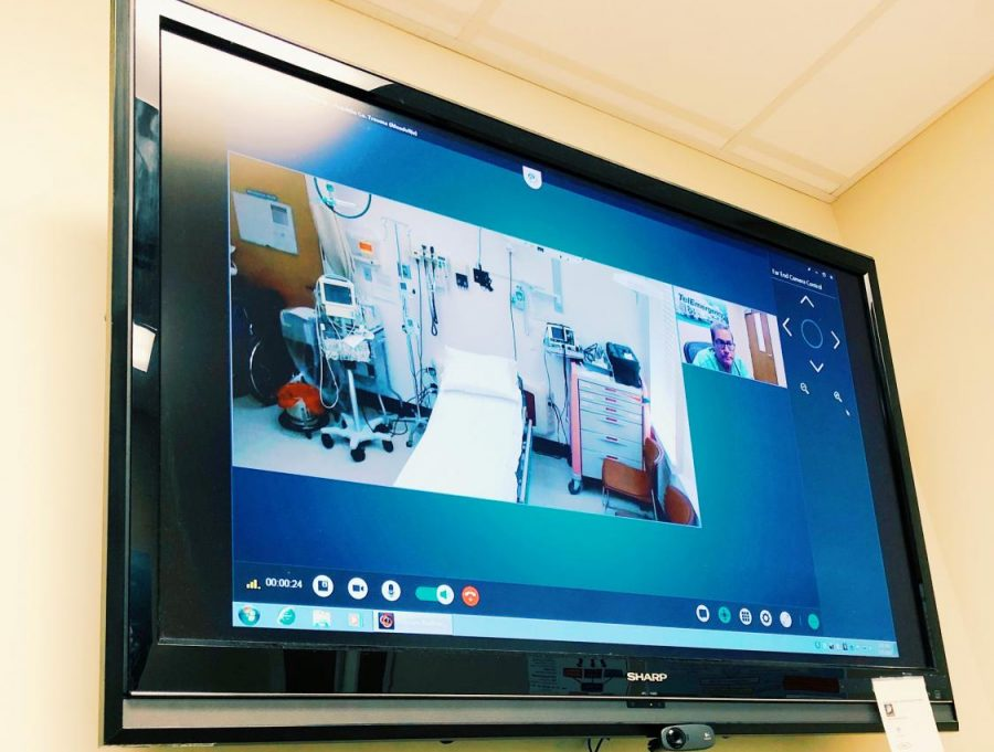 A screen at University of Mississippi Medical Center in Jackson used as part of its telemedicine program