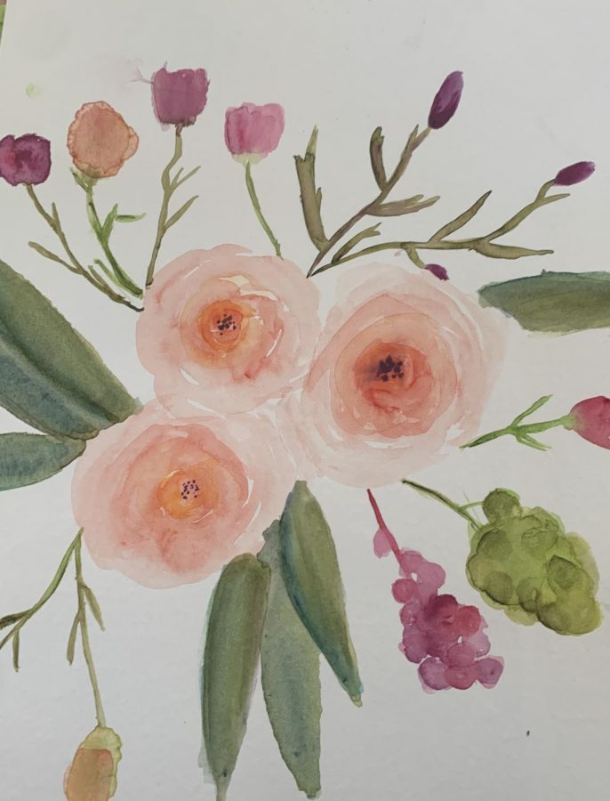 Flower watercolor by Annie Watkins. Photo courtesy of Annie Watkins