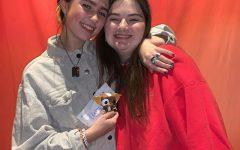 Julia and Clairo at her Atlanta meet and greet