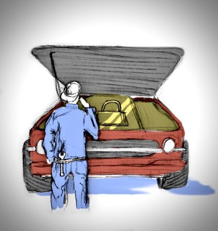 Who should be allowed to work on this car? Graphic by Alex Roberson