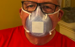Shown above is Mr.Doug Boone, who works at Methodist Rehab, wearing one of Ms. Hobbs 3D printed masks.