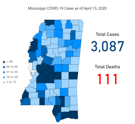 The number of COVID-19 cases continues to rise as Easter week ends (COVID-19 Mississippi/Jackson update 4/14/20)