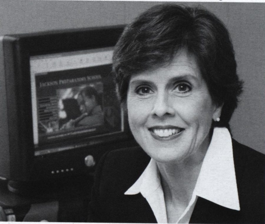 Ms. Trudy Powers first photo as Head of the Junior High in 2005.