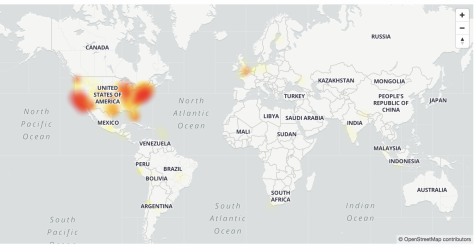 Zoom issues seemed mainly confined to the U.S. and parts of the U.K., according to this outage map from downdetector.com.