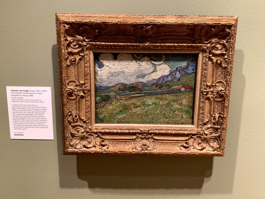 The Wheat Field behind St. Paul's Hospital, by St. Rémy by Vincent van Gough (1889) oil on canvas