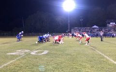 The Patriots and Rebels face off under Natchez's Friday Night Lights. Photo by Tanner Gough.