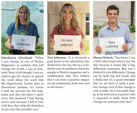 "3 seniors named ""25 students who will change the world"""
