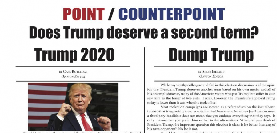OPINION: Point/Counterpoint - Does Trump deserve a second term?