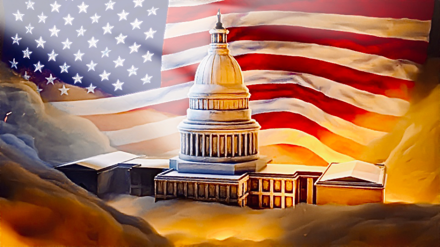 The Capitol, a symbol of American democracy and strength was assaulted by Trump supporters on January 6.  Graphic by Alex Roberson