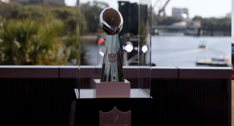 The Lombardi Trophy awaits its owner in Tampa Bay. Photo by Ben Liebenberg and NFL.com