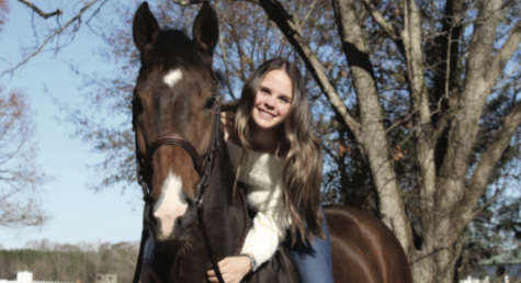 Junior Wilkie Gonwa uses her role model, Beezie Madden, as inspiration for her horse-riding career.