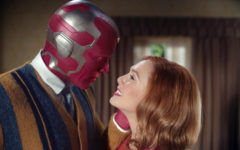 Paul Bettany and Elizabeth Olsen star as the Vision and Wanda Maximoff in Marvel Studio's