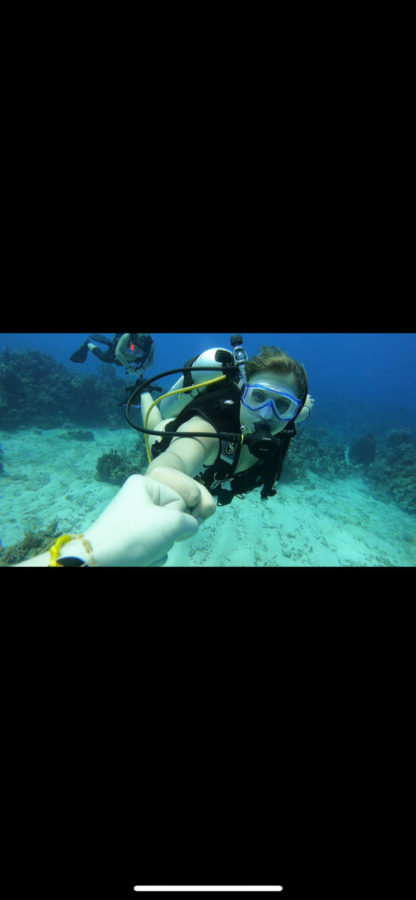 Junior Hali Hollman goes scuba diving.