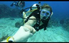 Junior Hali Hollman goes scuba diving.
