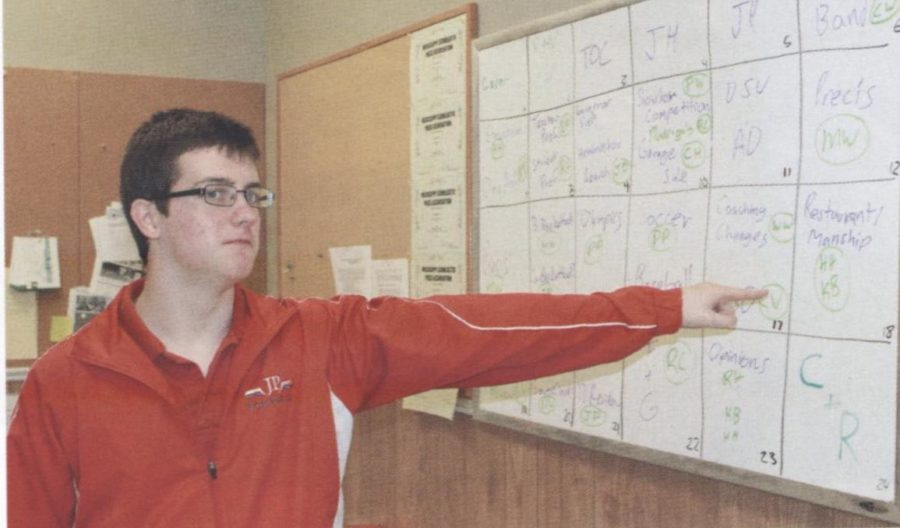 As Sentry editor for the 2013-2014 school year, Jesse plans out another great issue.