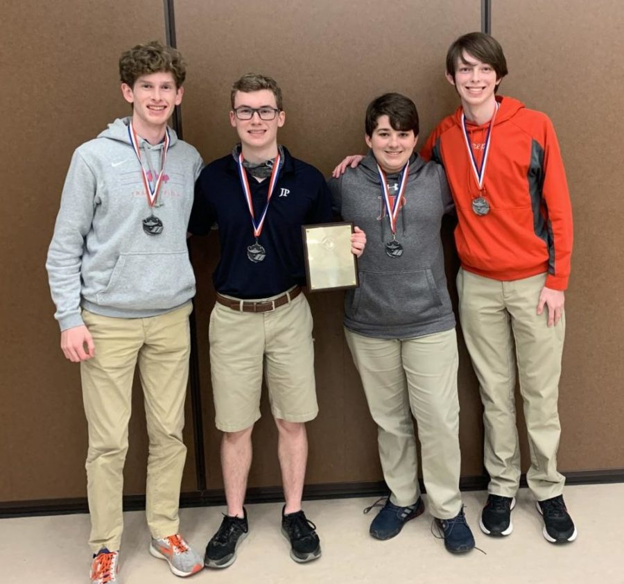 Alex Roberson, Ty Use, Jake Mathews, and Cass Rutledge after winning second place in the MAIS.